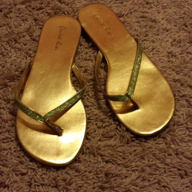 b6dd04bcb Best Green And Gold Flip Flops for sale