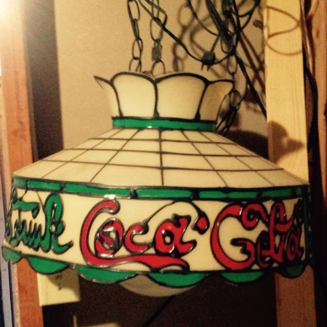 Best Vintage Cocacola Hanging Gaming Table Light Was Used Over Our - Foosball table light