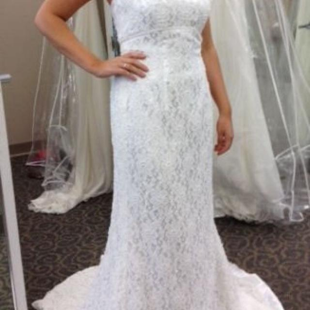 98b861246957d Best Galina Strapless Lace & Beaded Wedding Gown Style S8551 - $195 Size 2  for sale in Napa Valley, California for 2019