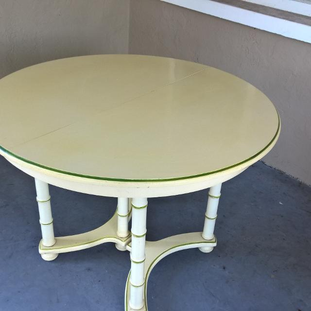 Best Reduced Vintage Drexel Dining Table With  Leaves  Round - Drexel dining table
