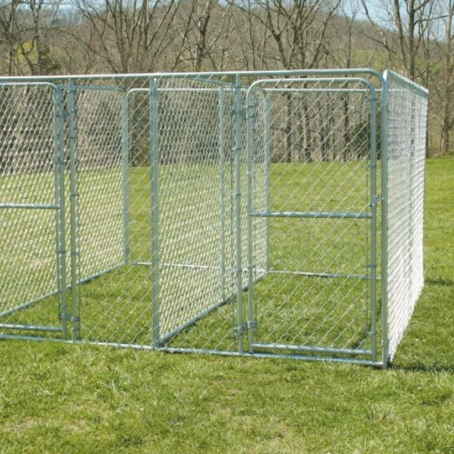 Find More 10x10x6 Double Door Chain Link Dog Kennel Asking What I Paid It S An Expensive Kennel Hole Is Not Big And Can Be Fixed Easily For Sale At Up To 90