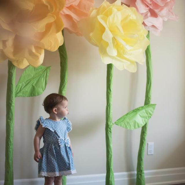 Photography Backdrop Flowers Hand Made Large Tissue Paper Flowers Perfect For Birthdays Or Tea Parties 50 For All 5