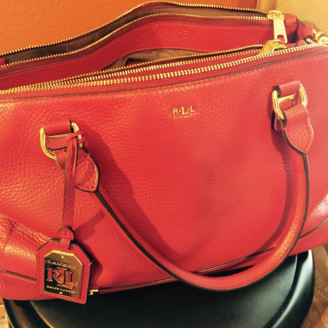 Red Ralph Lauren Purse
