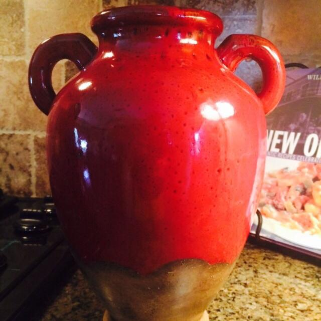 find more southern living at home verona olive jar in red tuscan