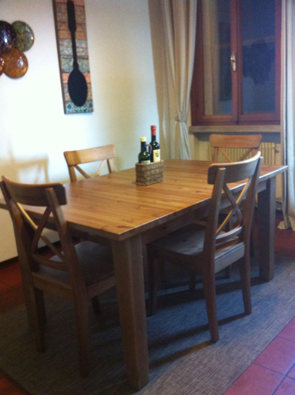 Stornas Ikea Extendable Dining Table And 4 Ingolf Ikea Chairs