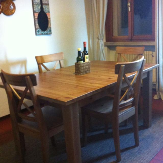 Find More Stornas Ikea Extendable Dining Table And 4 Ingolf Ikea Chairs For Sale At Up To 90 Off