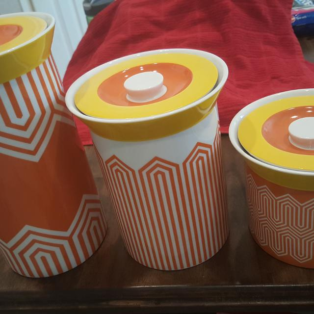 Find More Brand New Adorable Canister Set Happy Chic By Jonathan
