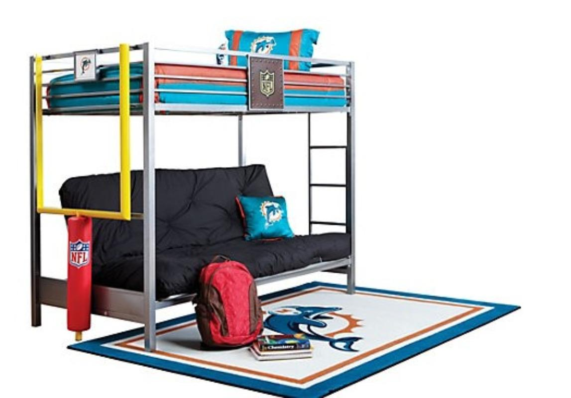 Find More Final Reduction Nfl Steelers Bunk Bed With Futon For At Up To 90 Off