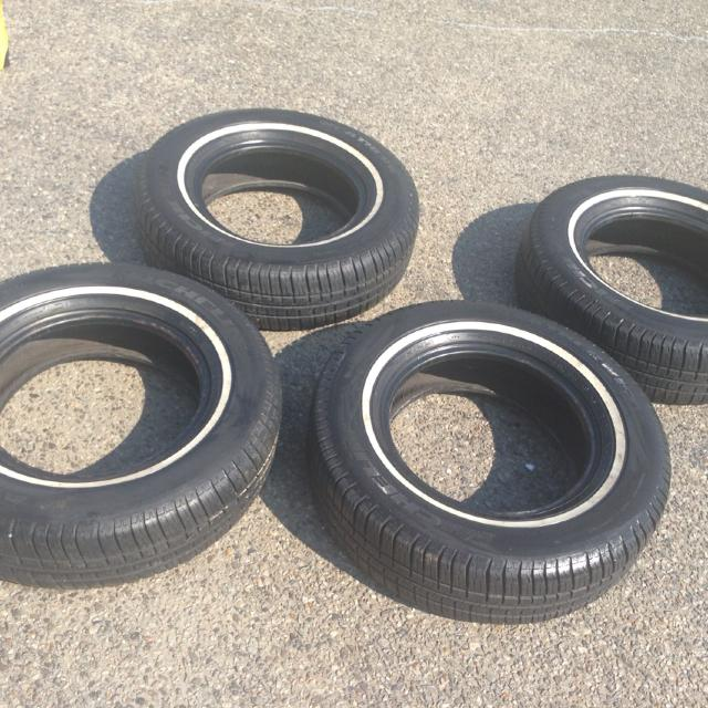 Michelin Whitewall Tires >> 4 Matching Michelin White Wall Tires 205 75 15