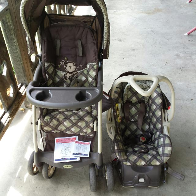 Find More Baby Trend Green Brown Monkey Stroller And Infant Seat