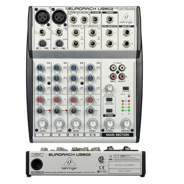 Behringer Eurorack UB802 Ultra-Low Noise Design 8-Input 2-Bus Mixer