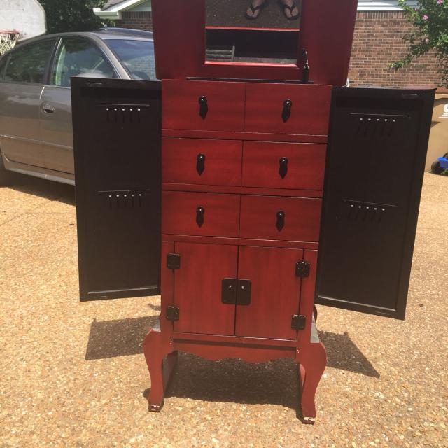 Pier one Asian jewelry armoire $40 Must pick up from my home in  Goodlettsville today - Find More Pier One Asian Jewelry Armoire $40 Must Pick Up From My