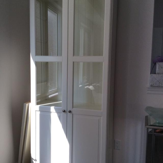 IKEA Liatorp bookcase with glass doors-$300.00 - Find More Ikea Liatorp Bookcase With Glass Doors-$300.00 For Sale