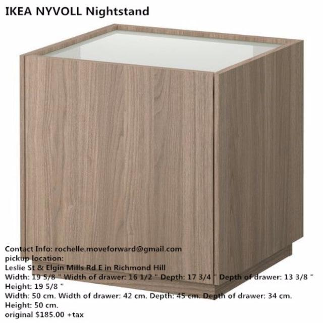 Find more ikea nyvoll nightstand for sale at up to 90 off for Ikea ontario canada