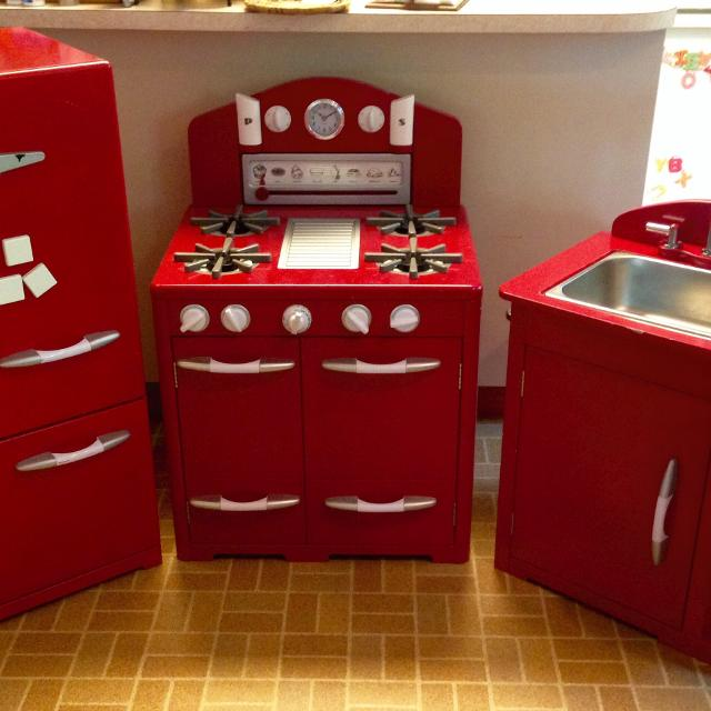 Pottery Barn Red Retro Kitchen