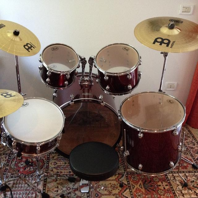 find more pearl centerstage csc625szp 5 piece drum set wine red with cymbals for sale at up to. Black Bedroom Furniture Sets. Home Design Ideas