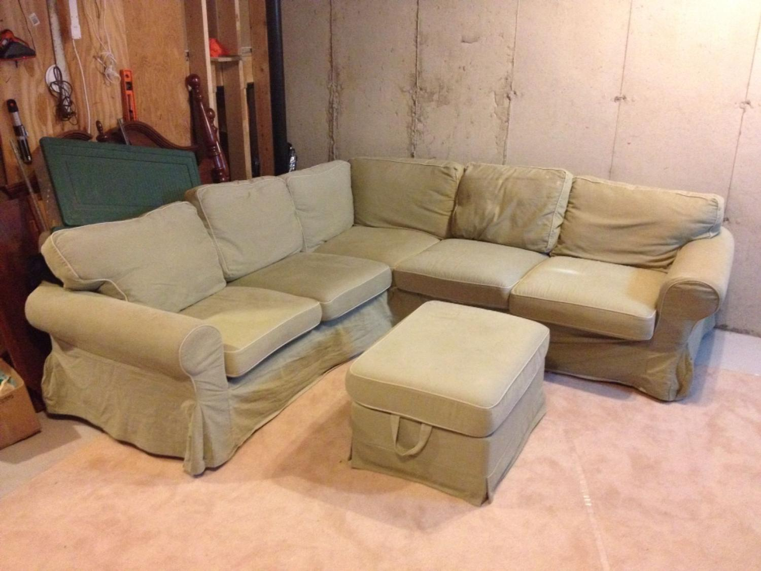 new concept 88412 5ab69 Ikea Ektorp sectional sofa and ottoman with storage area. Must pick up by  Thursday, will entertain best offer.