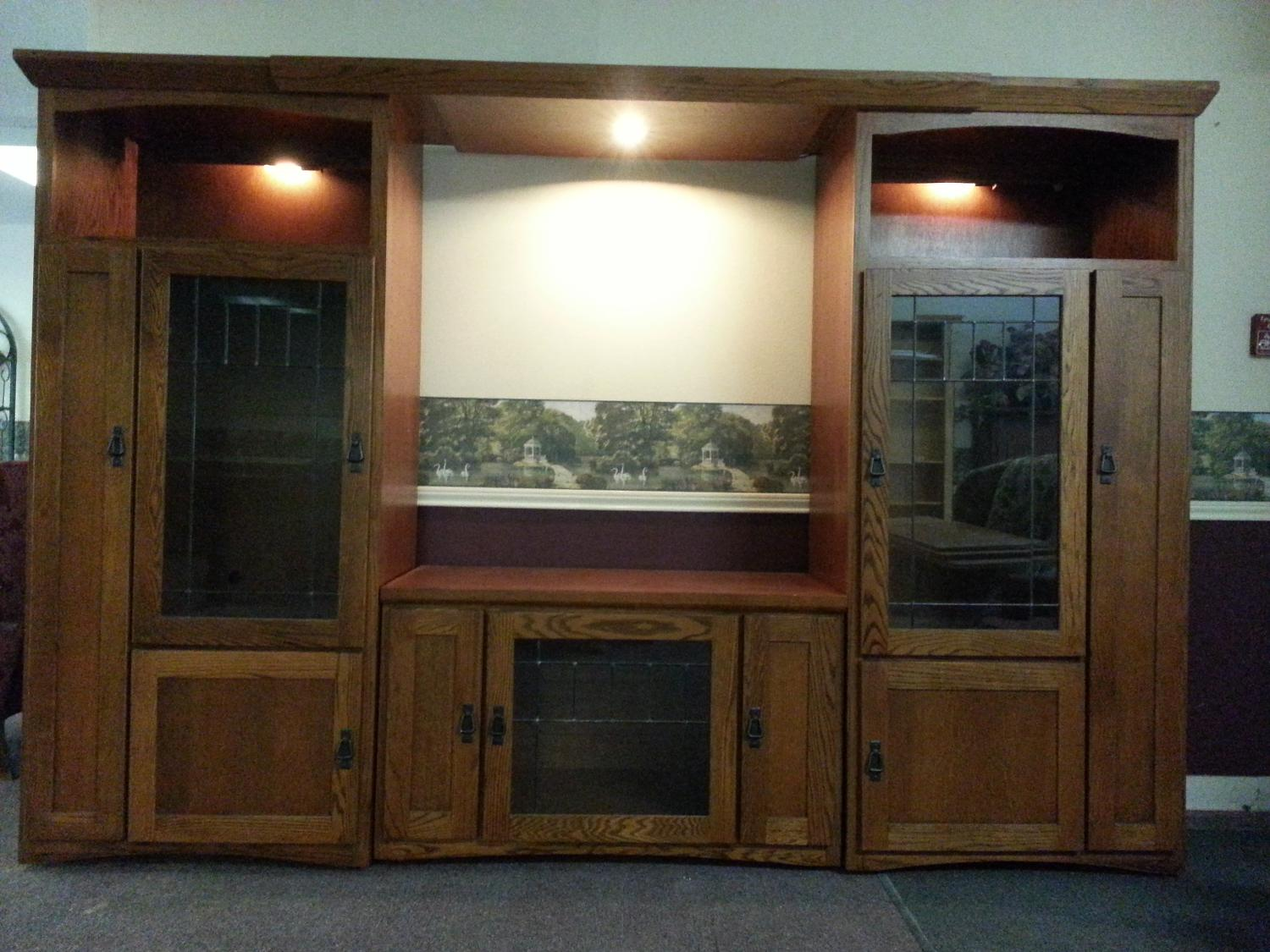 Media Entertainment Center By Aspen Furniture Mission Style W Towers