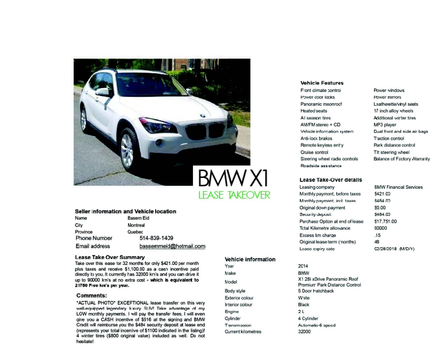 Find more Bmw X1 Lease Take Over for sale at up to 90% off