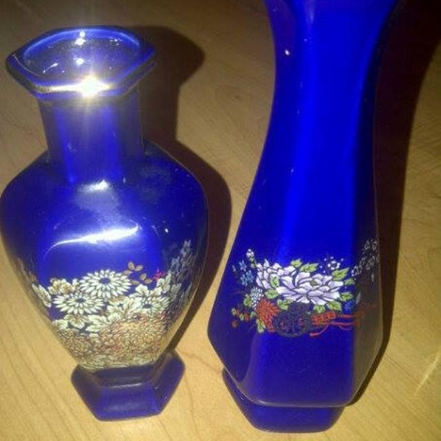 Best Cobalt Blue Lady Angela China Vases For Sale In Scarborough
