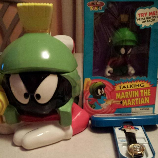 Cookie Jar Staten Island Amazing Best Rare Never Opened Talking Marvin The Martian Collector's