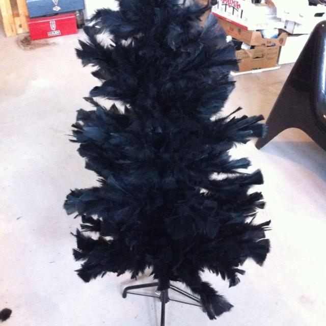 Black Feather Christmas Tree