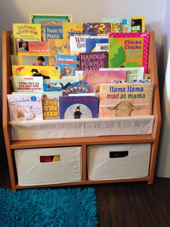Find More One Step Ahead Kids Sling Bookshelf With Storage Bins