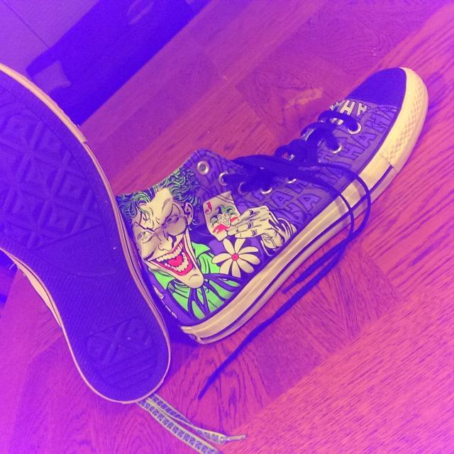 53f06a7d5d6a Best Batman joker Converse All Star Hi Tops Sneakers.. for sale in  Woodbury