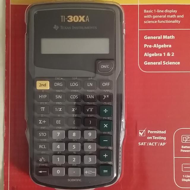 Best Texas Instrument Ti 30xa Scientific Calculator Brand New Still