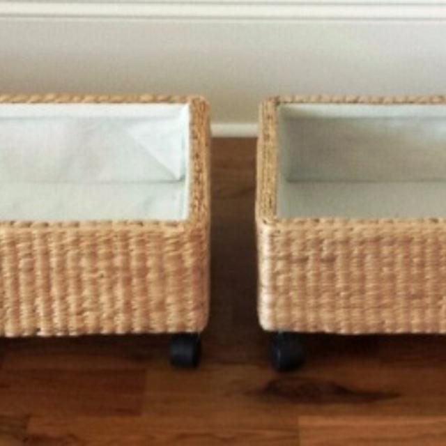 Under Bed Rolling Storage Baskets