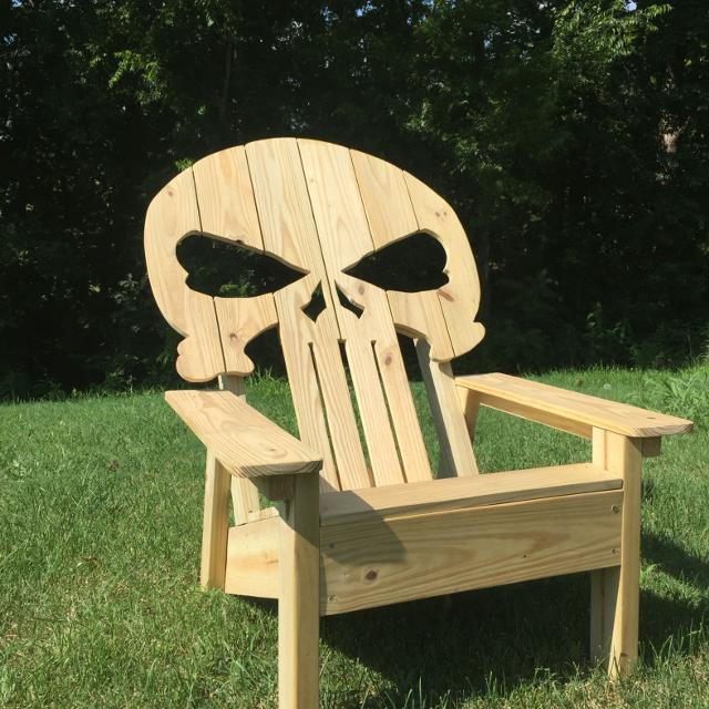 Wood Skull Lawn Chairs ~ Best punisher skull adirondack chair for sale in nashville