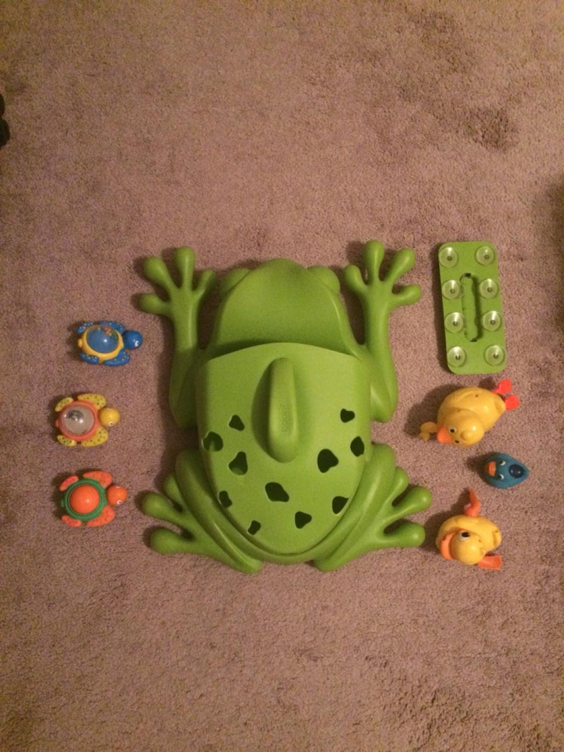 Find more Boon Frog Bath Toy Storage With Suction Cups For Attaching ...