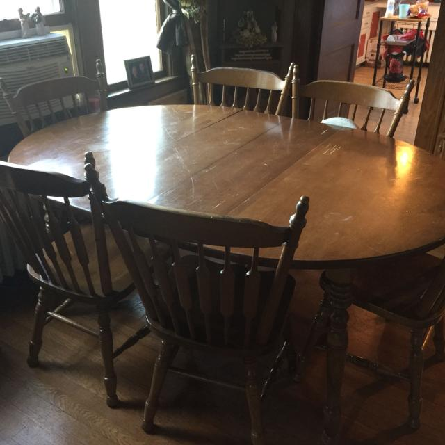 Best Cochrane Indiana Bay Colony 7 Pc Dining Room Set for sale in ...