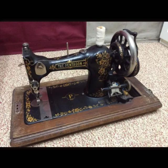 Find More Very Rare Pentagon Hand Crank Sewing Machine For Sale At Inspiration Hand Crank Sewing Machines For Sale