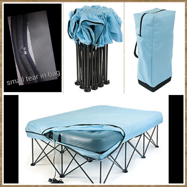 Find more Queen Portable Bed Frame With Attached Bed Skirt Includes ...