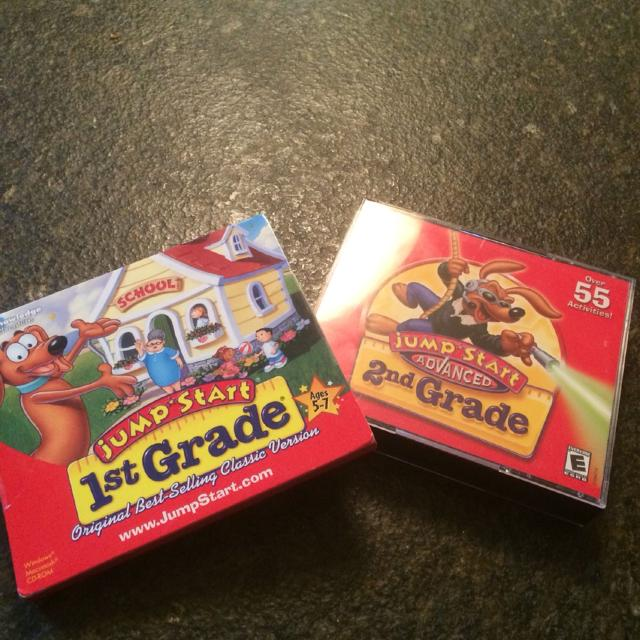Jump Start learning discs  Never opened 1st grade disc and gently used  3-disc 2nd grade set  Both $3