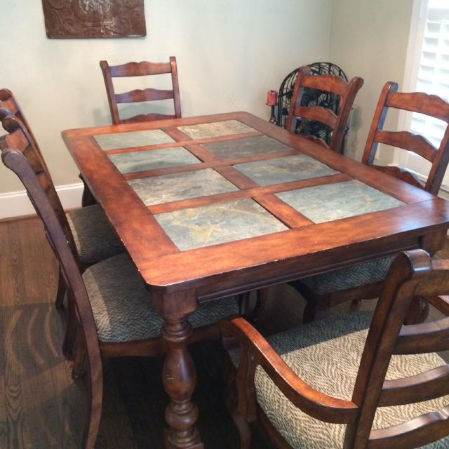 Best Dining Table (no Chairs). 65x40. All Solid Wood With 8 Slate ...