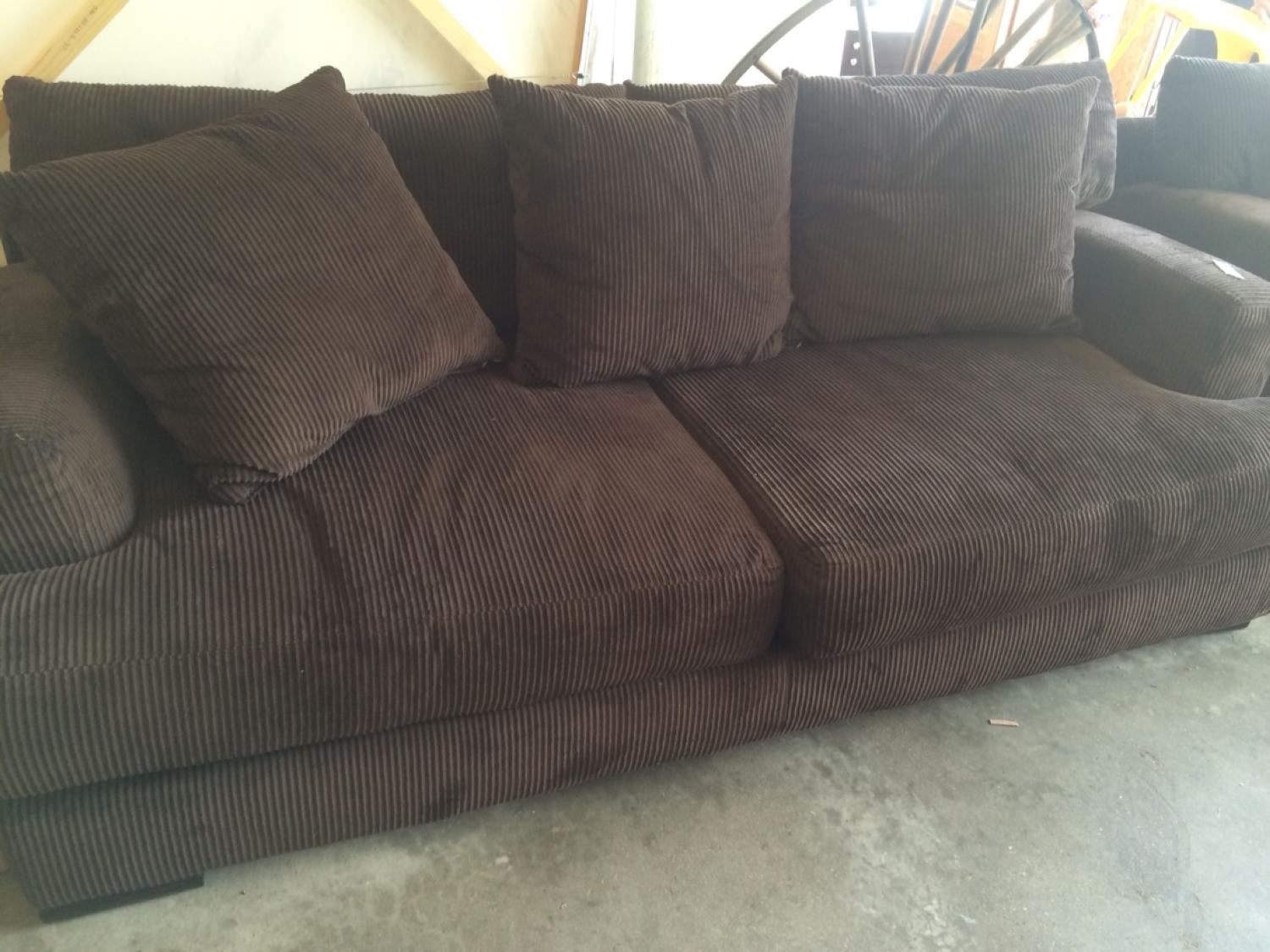 Brown Corduroy Couch
