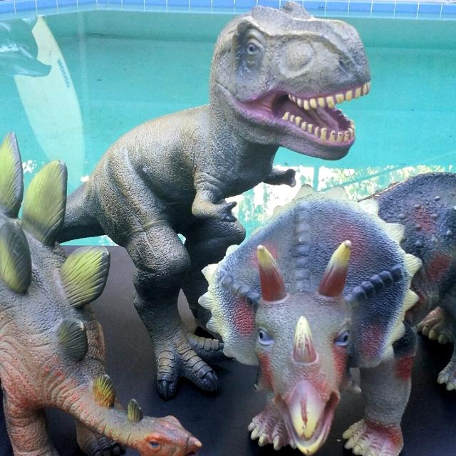 Find More 3 Large Toys R Us Animal Planet Soft Rubberized Dinosaurs