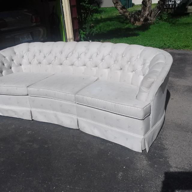 Vintage Retro Curved Couch By Flexsteel