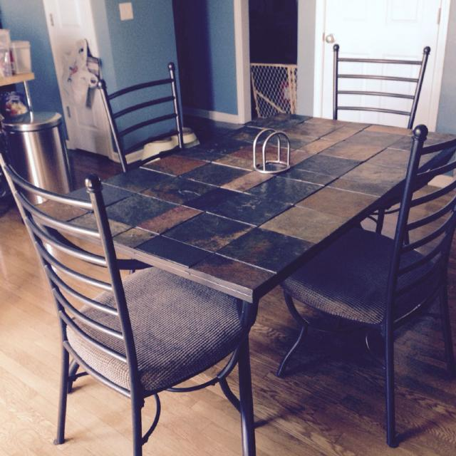 Slate Top Dining Table Set - Home Ideas