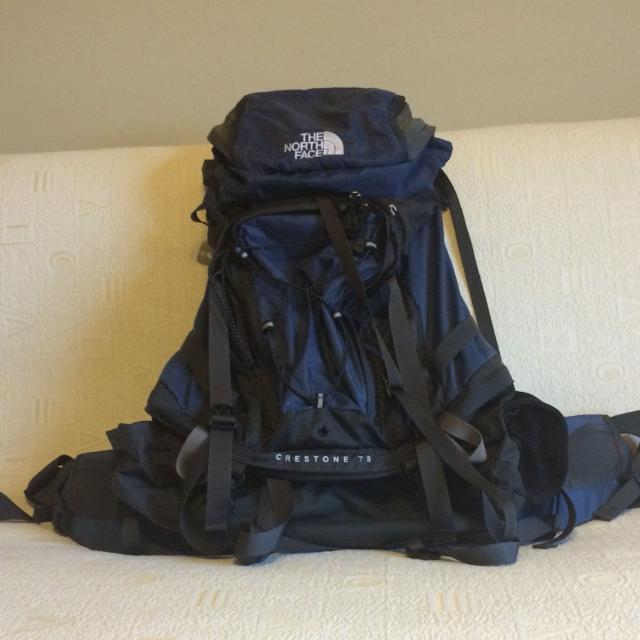 ad6518b0a North Face Crestone 75 backpacking/trail/camping pack with removable hip  belt, EVAP back panel and more features.. Nice pack, retails 229.00