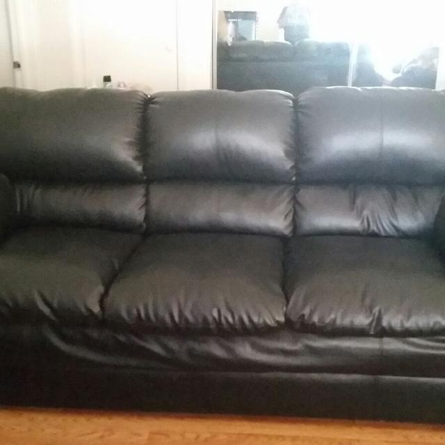 Find more Used Black Leather Couch And Recliner Chair. Couch In ...