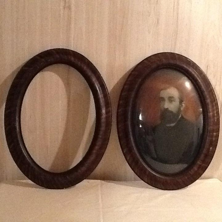 Find More Pair Of Vintage Picture Frames Large Oval Wood Frames