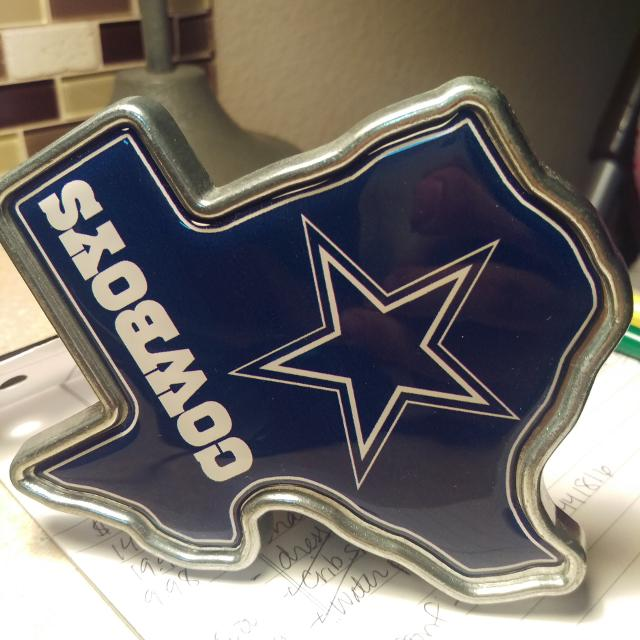 f6a7d2c0399 Find more Dallas Cowboy Texas Shaped Trailer Hitch Cover for sale at ...