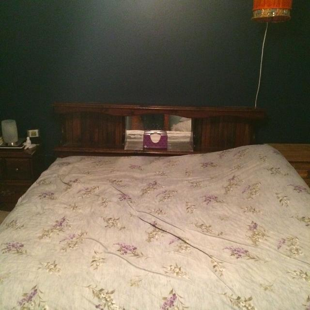 King Size Waterbed Frame And Headboard Used