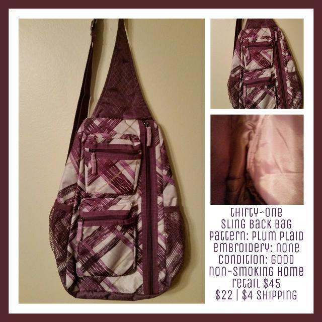 Thirty One Sling Back Bag