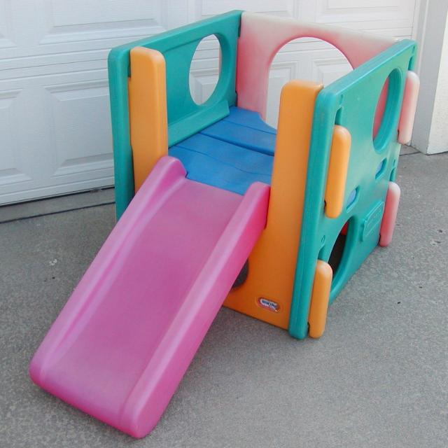 little tikes climber cube toddler child size with slide