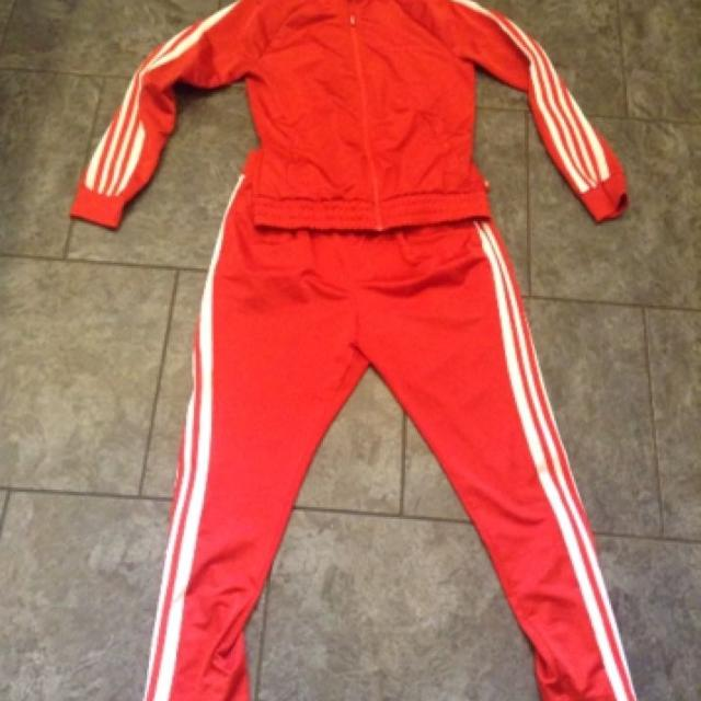 717a7bbc36fa Find more Size Medium Red Adidas Track Suit--makes For The Perfect ...