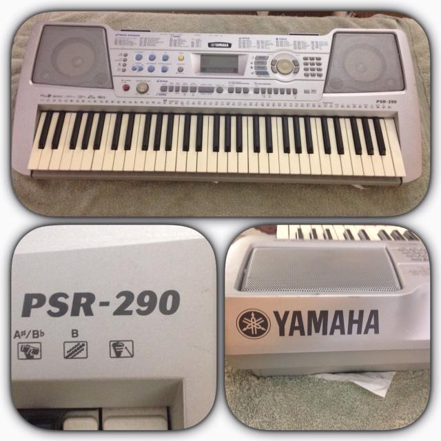 find more silver yamaha keyboard psr 290 for sale at up. Black Bedroom Furniture Sets. Home Design Ideas